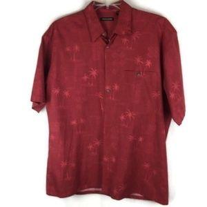 Pierre Cardin Short Sleeve Shirt Size L Hawaiian